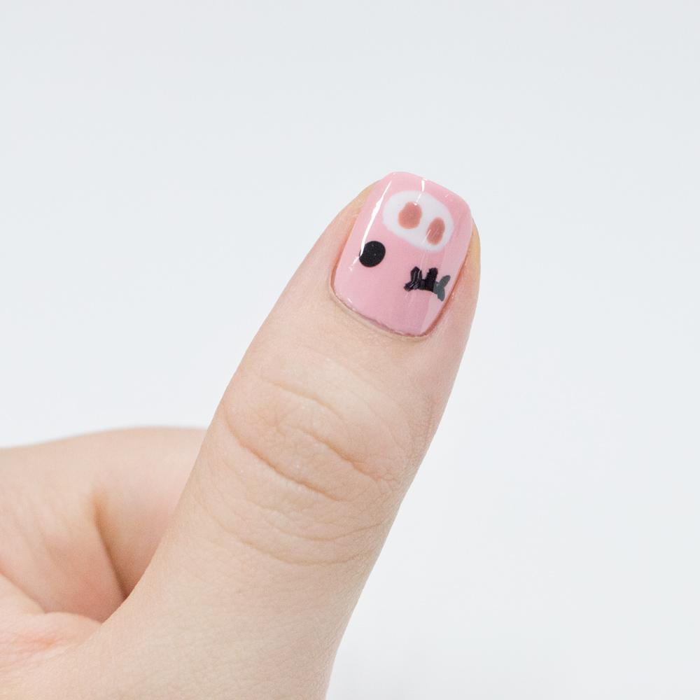 大家可以試著在不同的指甲給小豬們不一樣的表情,從小豬眼睛下功夫就行…!!(・´з`・)♥♥