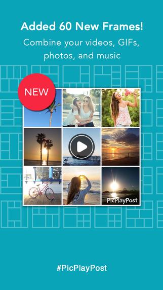 剛剛的拼貼App只有iOS版本,安卓用戶別難過,《PicPlayPost》也能讓你拼貼照片與影片