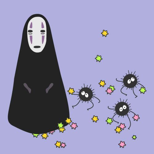 因為今天要做的可是宮崎駿14年前的動畫長片《神隱少女》中的無臉男欸~雖然它變身後變得很可怕,但許多人都很喜歡它平和時的樣子吧?