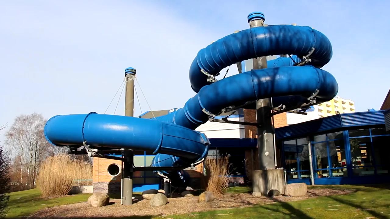 位於德國不來梅哈芬的的「Bad 1水上樂園」有個特殊的地方