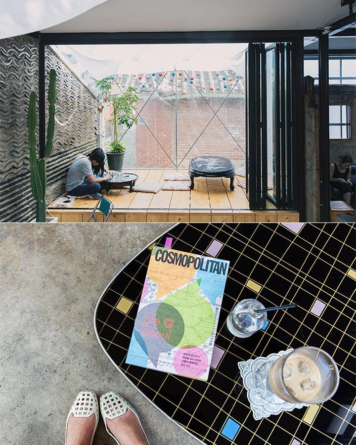 跟瓦牆連在一起的落地陽台,讓人感覺神清氣爽,擺上很有感覺的傢俱做裝飾,充滿了獨特的個人丰采!