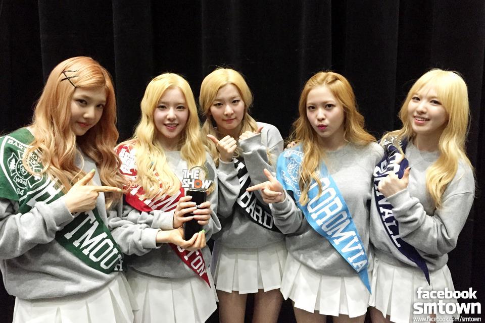 電視節目最多冠軍次數(女):Red Velvet (6次)