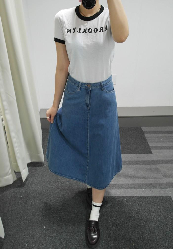 ( 尺寸:25 )  FOREVER21的牛仔裙最Simple、最俐落
