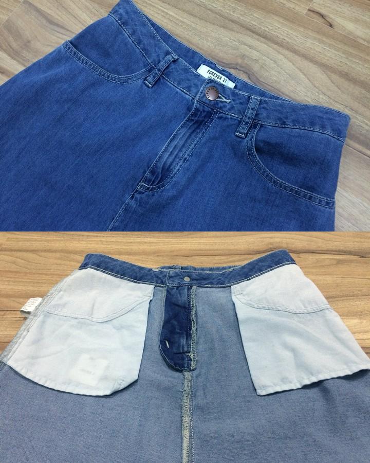 以為材質輕薄、設計簡單,所以口袋的設計也不怎樣,但意外地有著大口袋的設計呢!