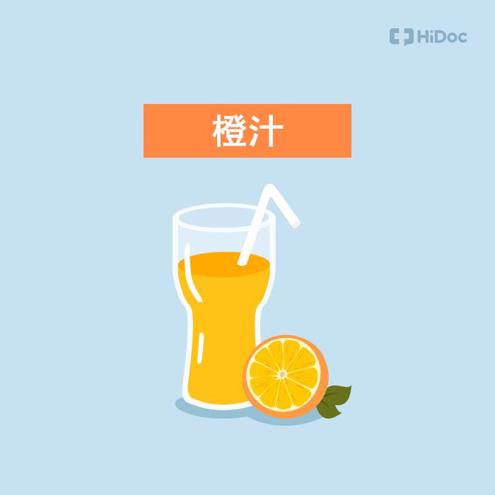 相反,用橙汁來服用消化藥或胃灼熱、胃炎等常用製酸劑藥的話,會吸收體內不需要的鋁元素,增加胃內的酸度。