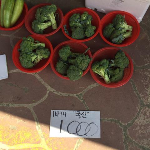 花椰菜一籃1000韓幣