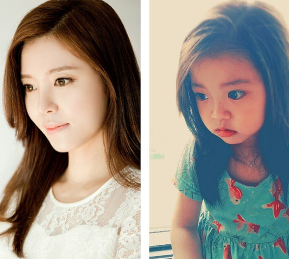 小書雨和媽媽簡直是一個模子刻出來的ㅠㅠㅠㅠㅠㅠ 美人坯子顯露不遺.... ♥
