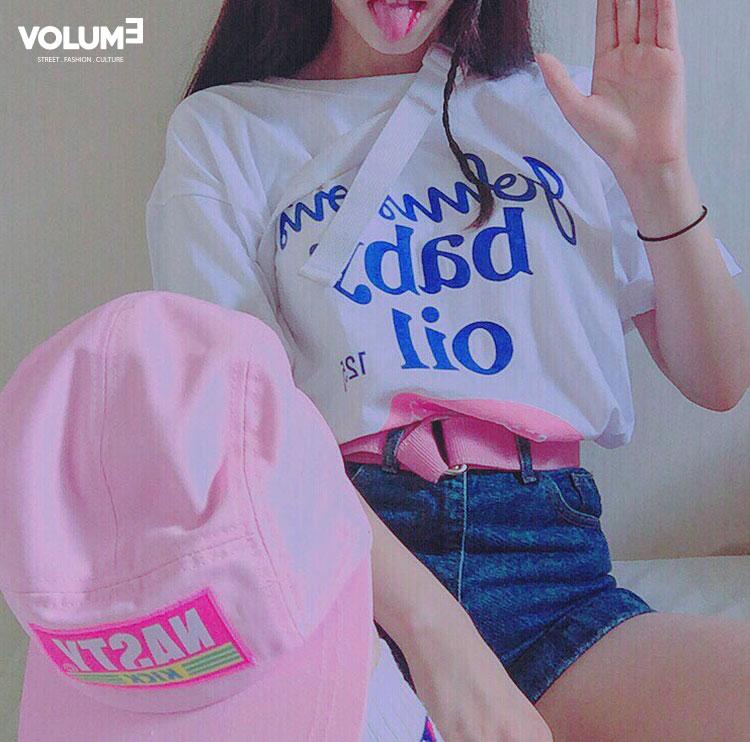 ☆ 色彩明快靚麗的Camp Cap + 粉紅色腰帶 卡哇伊~卡哇伊~