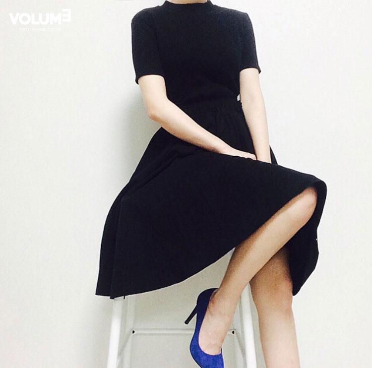 ❀ 完美淑女裝 藍色高跟鞋亮點bling bling