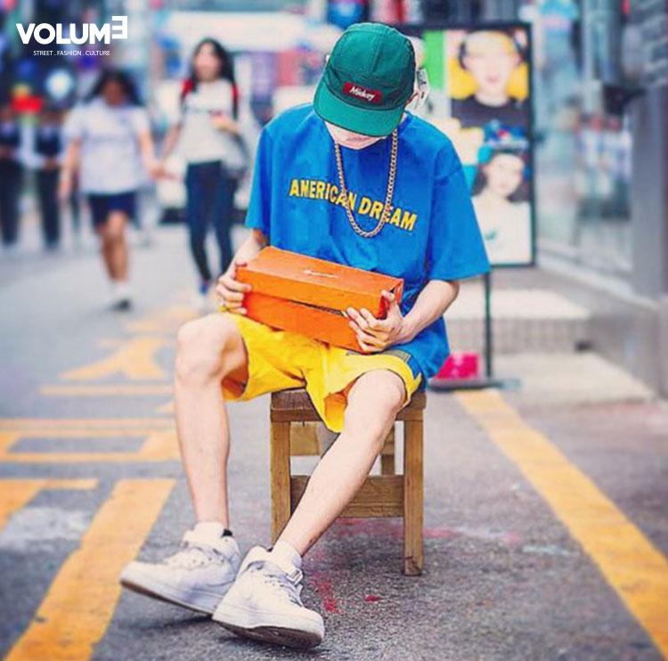 △ Camp Cap + T恤,短褲搶眼~