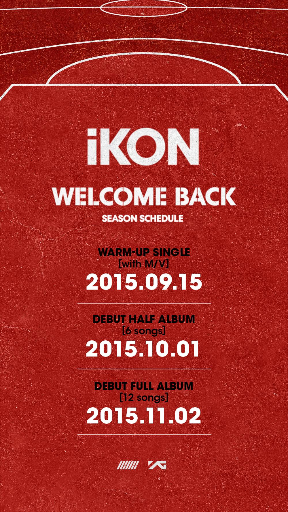 啾都嗎德~(等一下),YG還有一個壓最久遲遲不出道的新人男團iKON等著排隊呢!今早最新公佈,回歸先行曲訂於9月15日公開,10月正式發表出道專輯,而且會持續到年底呢~粉絲們是不是超期待的啊??