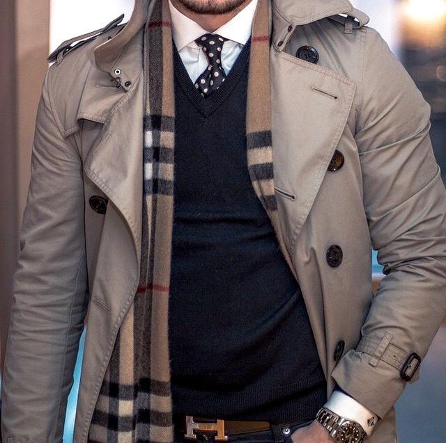 男性風衣的風格不一樣,當然感覺也不一樣了啦~