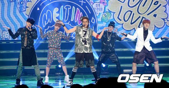 2. B1A4 757天 (出道後2年1個月) 得獎歌曲:第四張迷你專輯《這是怎麼回事?》 得獎日期:2013.5.18 Music Core