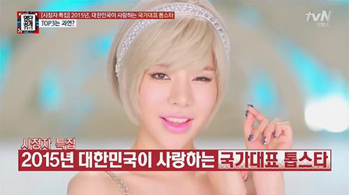 上周,韓國電視台tvN《名單公開2015》公開了一份調查,是由收視觀眾投票選出的「大韓民國最喜愛的國家代表Top Star」,一共有30名入選!!