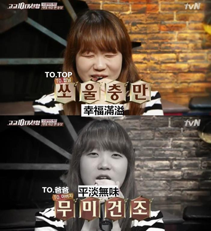同樣的一句「 我愛你 」,說給T.O.P大人和爸爸時的表情卻大不同。(把拔都要無言了)