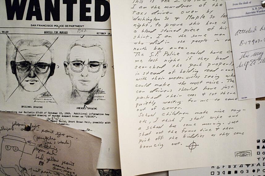 一名自稱「十二宮殺手 」的兇手,每次作案後都會向警方和媒體發送含有密碼的信件,炫耀他殺人經過,並在信末留一個星象圖案標誌,聲稱只要能夠破解密碼,便可得知他的真實身份。