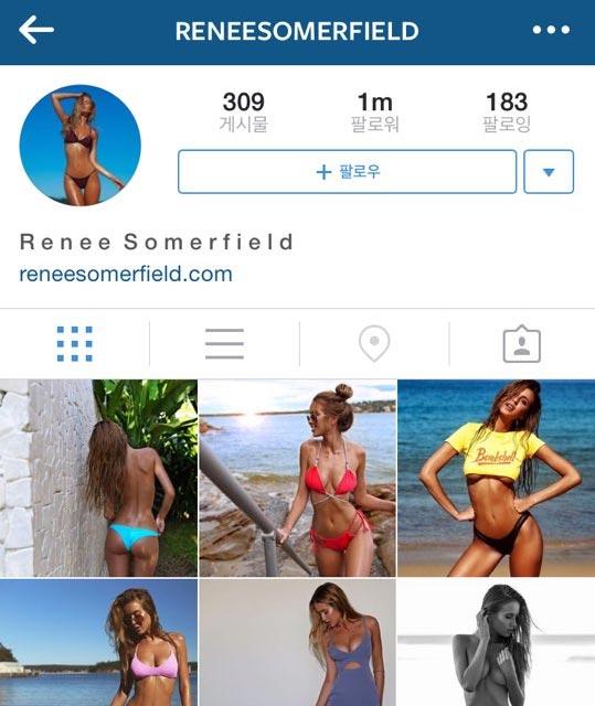 @reneesomerfield 第二個要介紹的主人公也是來自澳洲的嫩模Renee Somerfield