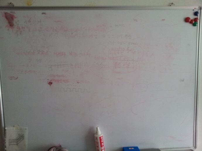 5. 白板上的痕跡用丙酮可以擦很乾淨。