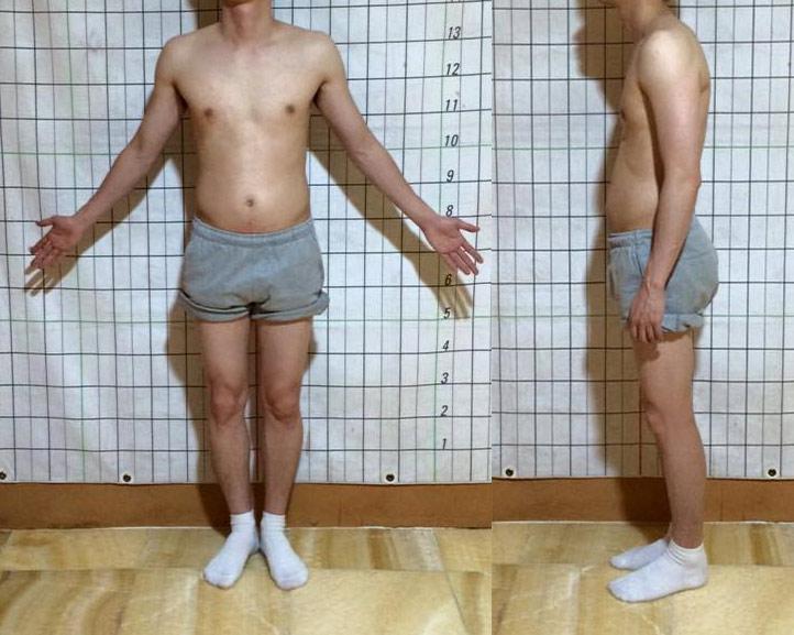 運動前的「認證照片」,四肢都很瘦,只有肚子出來了,很多男生應該都會有這樣的困擾吧!