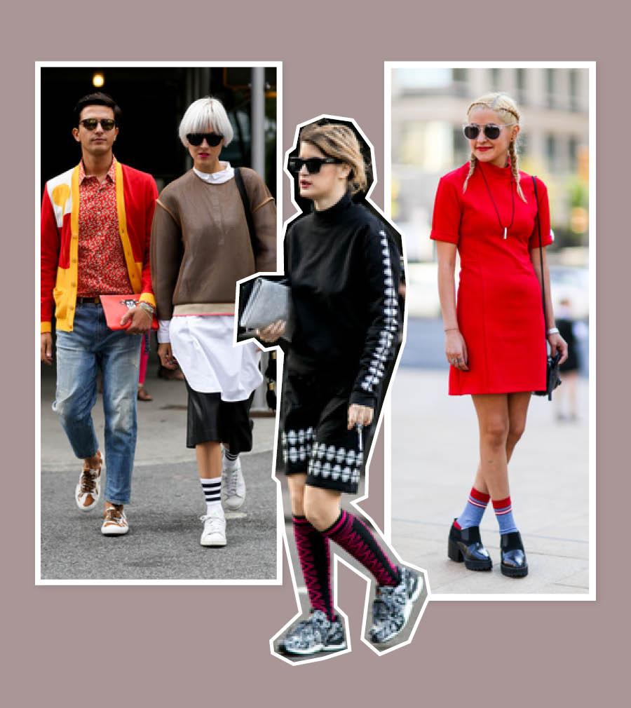 漸入秋季,涼鞋已不見蹤影,光了一個夏天的腳踝,此時也要被襪子包裹起來了,一雙襪子也能凹出各種造型。