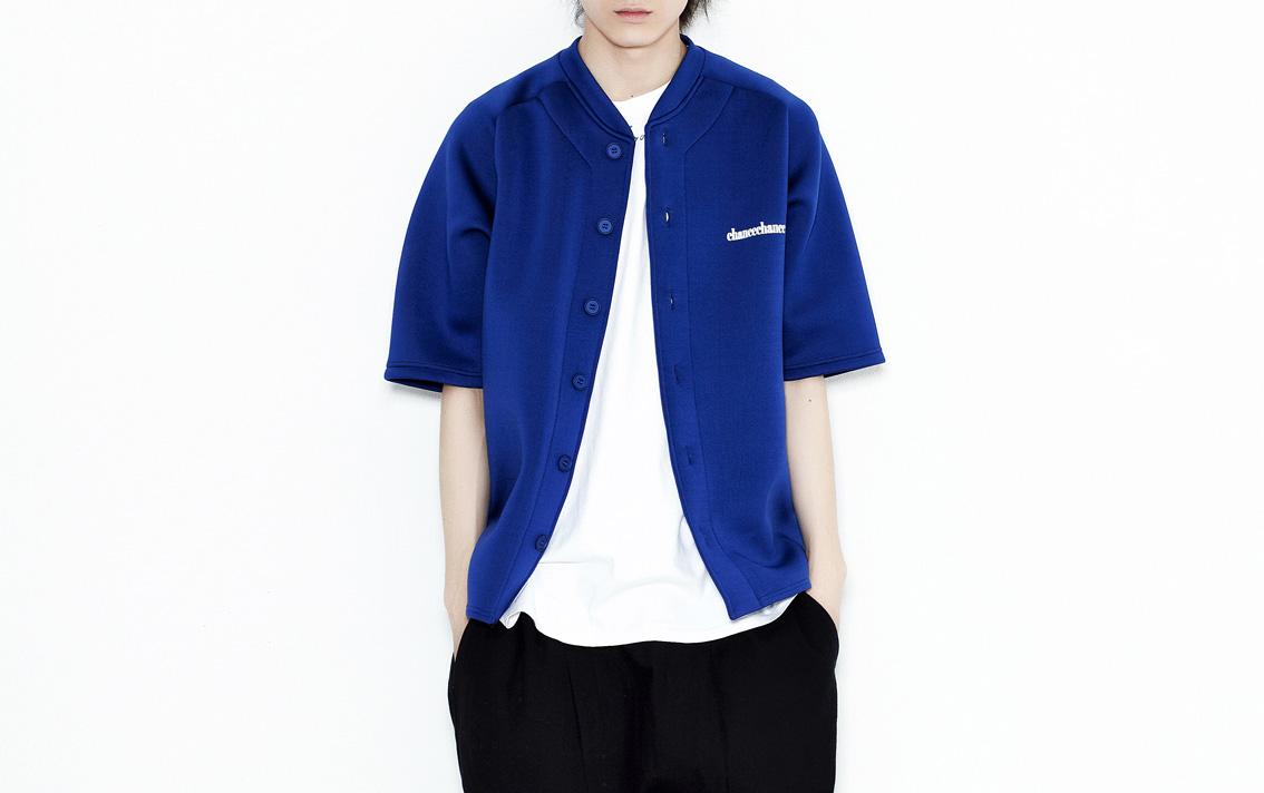 #BLUE HALF SLEEVES SHIRTS 男生穿是這種感覺