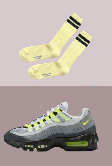 膝下有橫條紋修飾的短款棒球襪,是喜好休閒裝束男士的不二選擇,僅用簡單的「兩道槓」,就能表明立場。