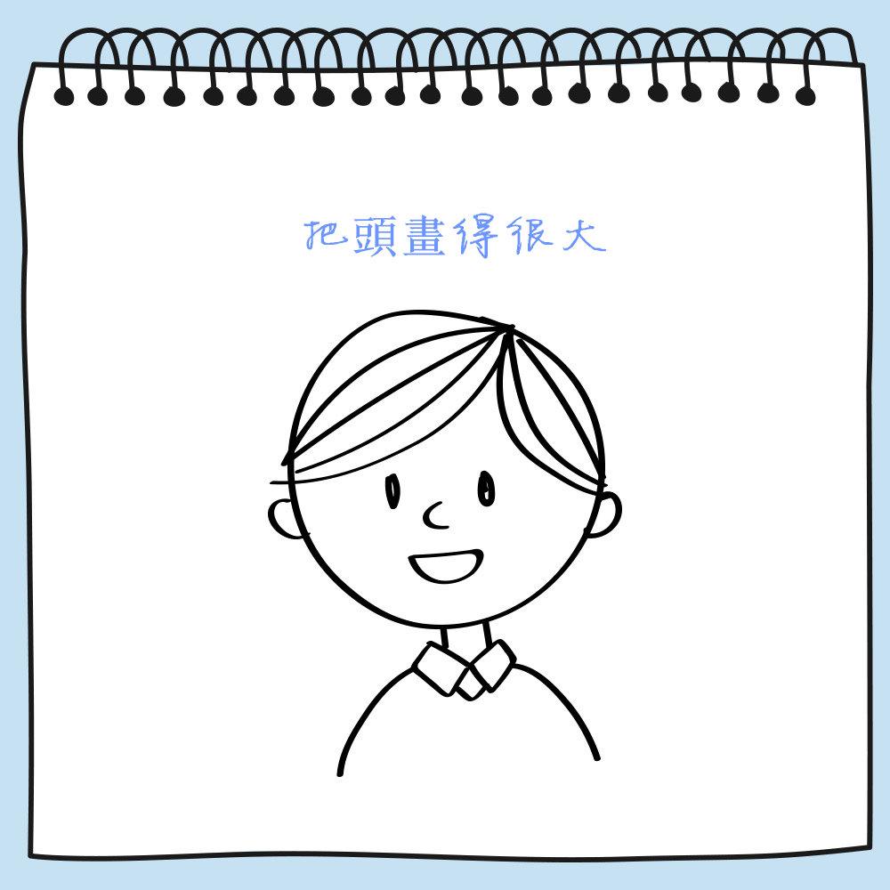 你很傲慢或行為誇張。 但是如果是小朋友的作品的話則沒有意義,因為孩子們通常都會把頭畫得很大。