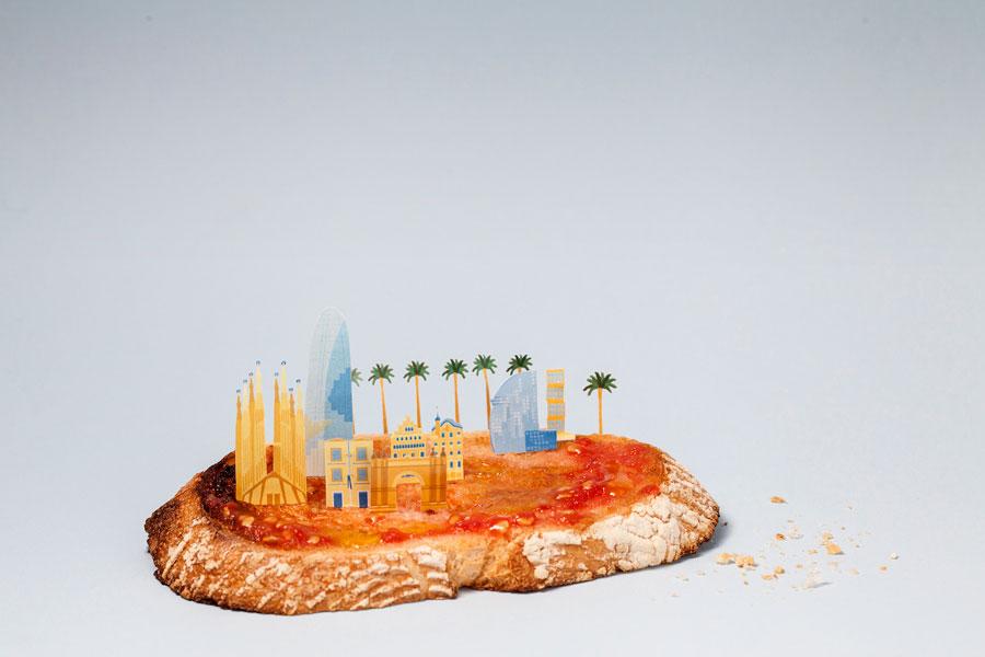 #. 巴塞隆納 x 番茄麵包 麵包上面塗著一層厚厚的番茄醬和橄欖油~