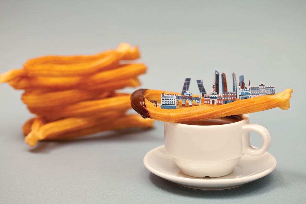 #. 馬德里 x 巧克力拿鐵吉拿棒 熱乎乎的西班牙吉拿棒,沾著巧克力拿鐵一起吃... (美味)