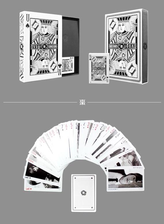 專輯贈送的小卡,當然是以東方神起兩人的照片當cover~(突然想到了小時候書局也都有賣這種明星撲克牌)