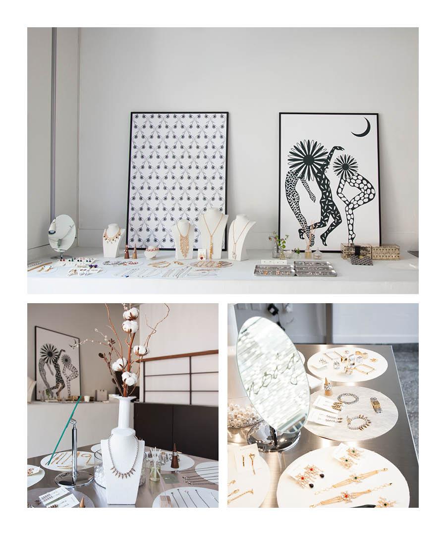 我們先參觀一下賣場吧!規模不大但內部環境乾淨簡潔,給人留下了深刻的印象...在這裡我們可以看到設計師自己的畫作和珠寶首飾的完美結合。