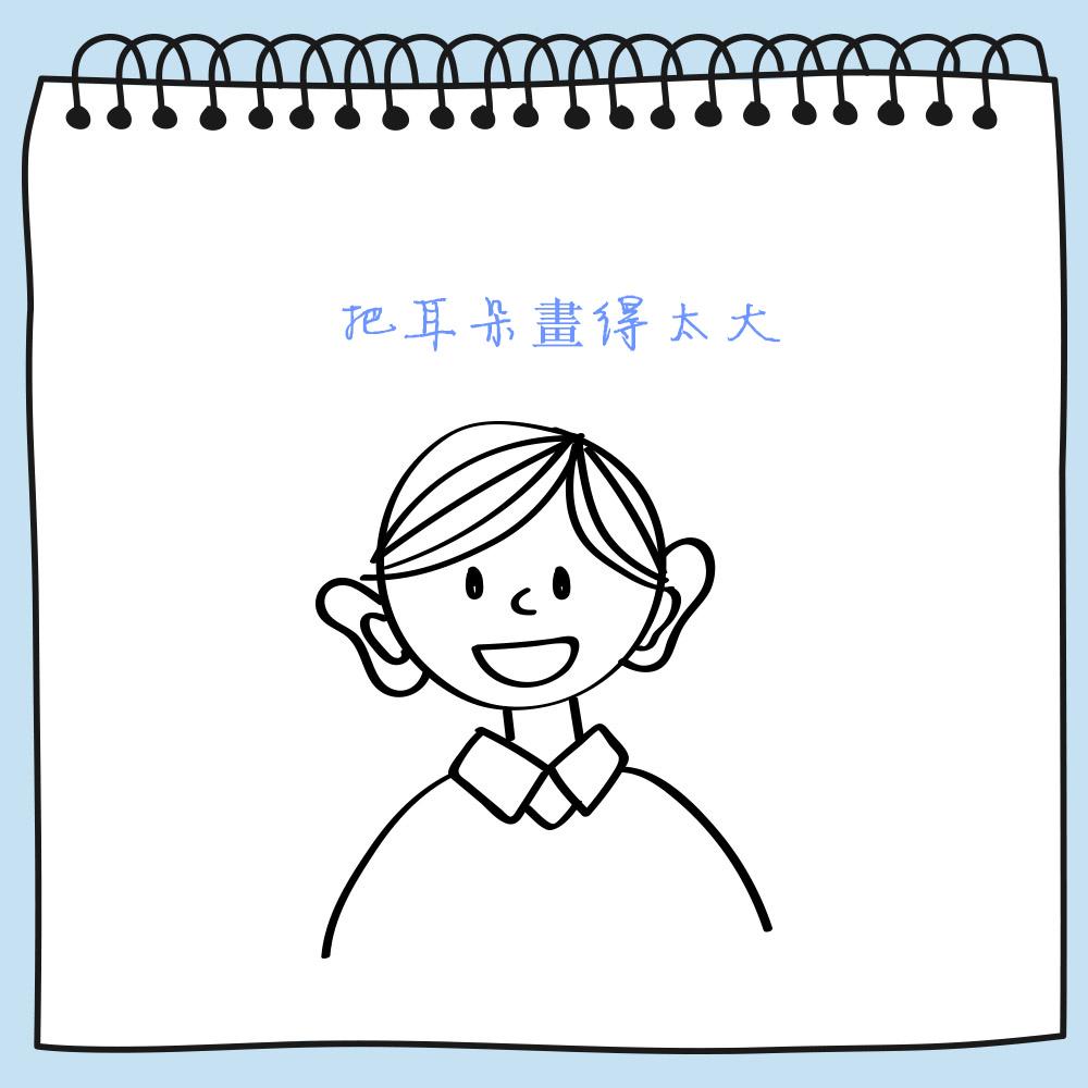 需要整體觀察是否耳朵與眼睛、鼻子、嘴巴等其它感覺器官有明顯的大小差異。如果對比腦袋和臉後太大的話,則是病態的,或者是你有可能有聽覺問題,希望通過大耳朵來傾聽世界。