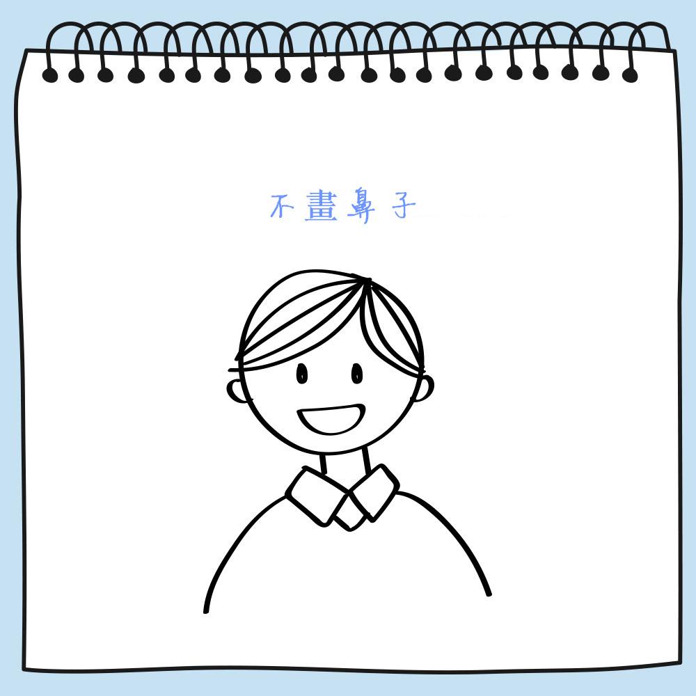 小朋友常常像漫畫一樣省略畫鼻子,沒有多大的意義。其實成年人也一樣~