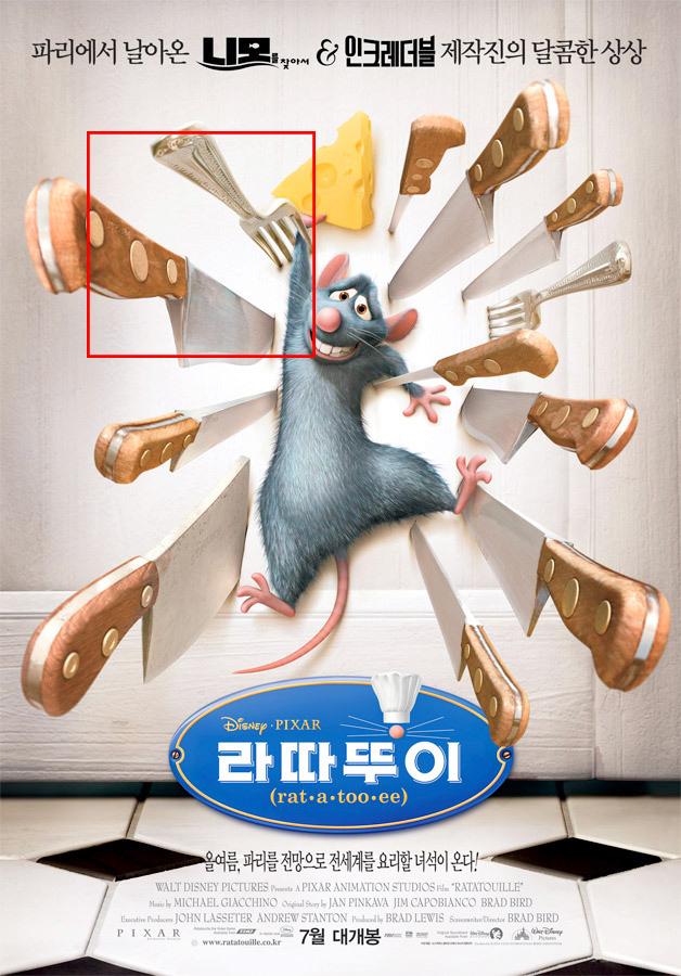 只要看到灰色東西就應該猜得到了吧!電影 '料理鼠王'