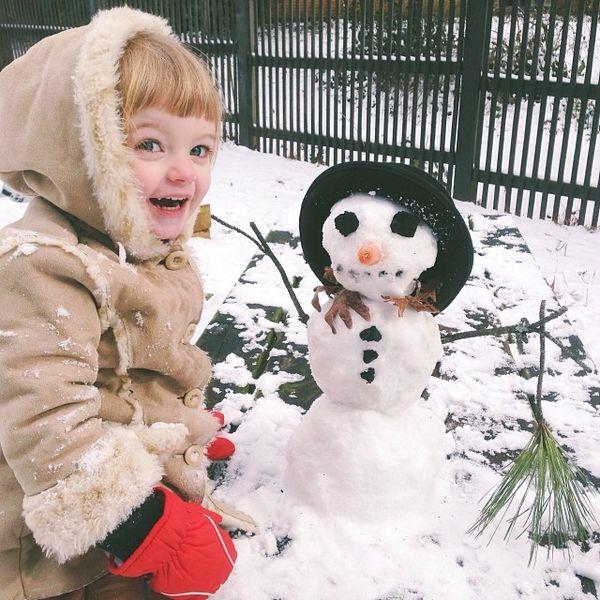 堆雪人啦~ㅠ3ㅠ♡