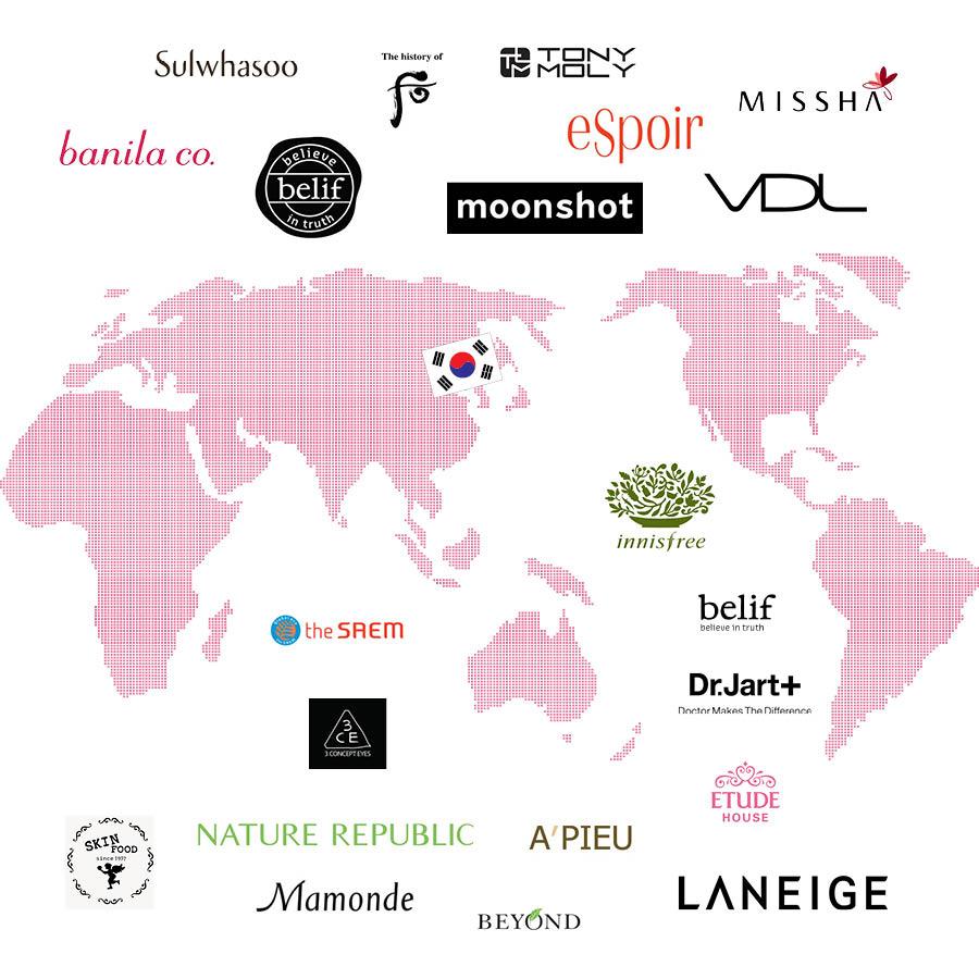但近幾年比起歐美化妝品牌,韓國的化妝品似乎更適合亞洲人的皮膚,所以也越來越受歡迎,但不同國家遊客熱衷購買的韓國化妝品也都不一樣,下面就一起來看看吧!