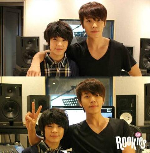 咦?跟SJ的東海站在一起時,怎摸有兄弟的感覺?呵呵