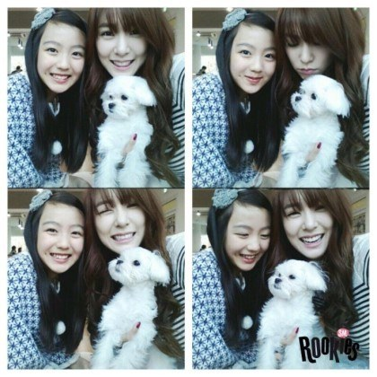 跟少時的Tiffany姊姊一起拍照時,一點也不遜色的Lami♡ 期待以後你的出道呀!!!