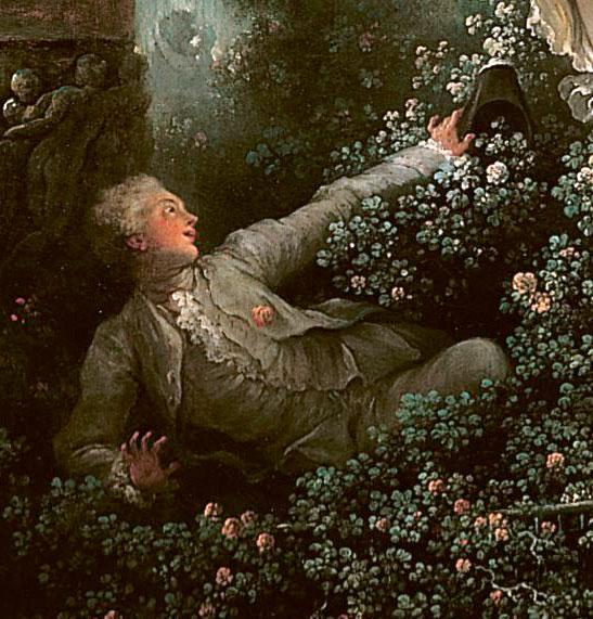 但是...在貴婦人大大裙擺下方的草叢裡,卻藏著一個年輕的男子~