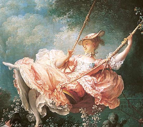 洛可可風格起源於18世紀的法國,最初是為了反對宮廷的繁文縟節藝術而興起的。此畫中我們能夠看到的所有的細節,都完美地體現了洛可可的藝術風格。