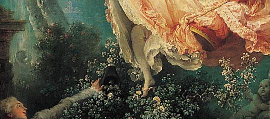 總之弗拉戈納爾充分表現了路易王朝貴族、貴婦人的輕艷奢侈嗜好遊玩的生活、感情和趣味,這正是洛可可的精髓所在。