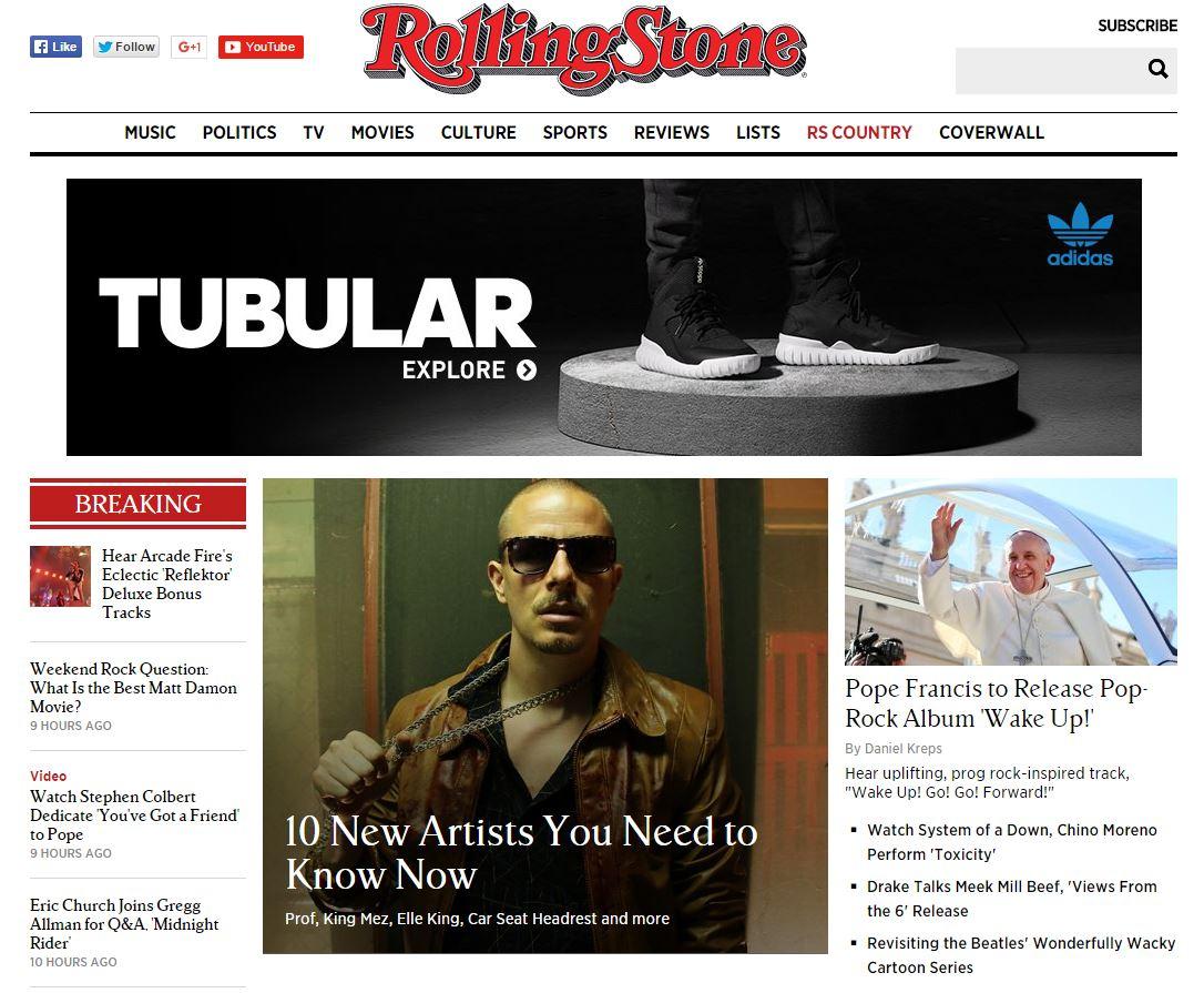 大家知道美國音樂權威雜誌《Rolling Stone》嗎? 已經是擁有將近半百年紀,總共48年歷史!