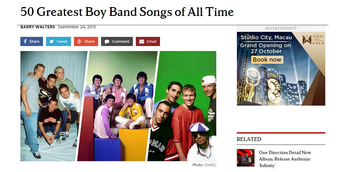Rollingstone選出最佳男團歌曲Top 50,裡面不乏韓國男子團體的歌曲唷!總共有5首入選呢!能夠入選是多大的殊榮啊!?