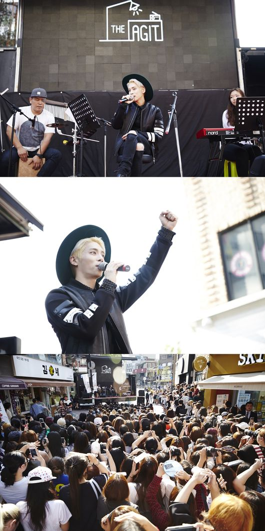 為了讓更多人看到他的才華,鐘鉉在這次回歸前,分別在弘大、大學路等地舉辦了名為「Healing Story」的快閃演唱會,當時反應就十分火熱~