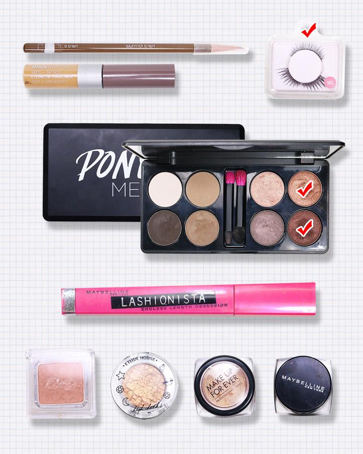 開始之前先跟大家介紹下今天要用到的化妝品,大家也盡量選擇接近的化妝品用。