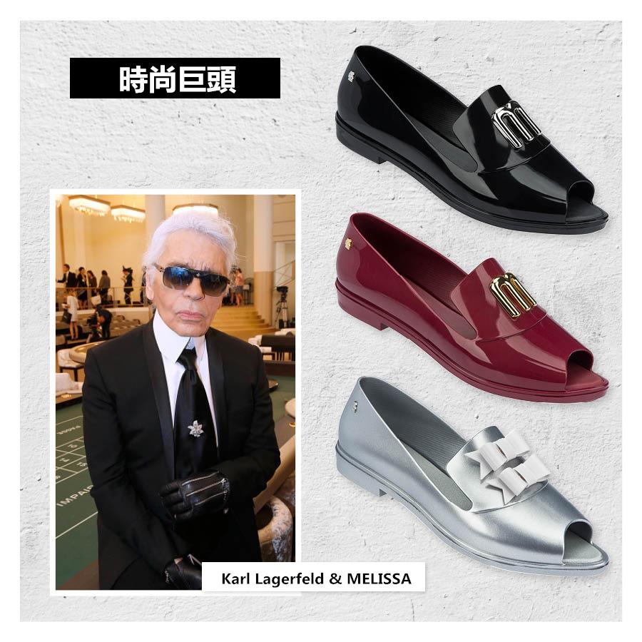CHANEL藝術總監Karl Lagerfeld和果凍鞋品牌MELISSA牽手!  看似毫無關係的二者聯手推出四款限量版橡膠鞋~