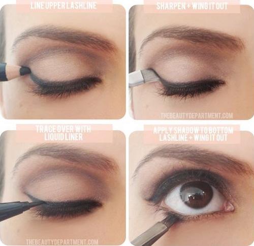 4.筆跟液一起用  線條越短,越容易畫出俐落的線條。所以如果眼線筆和眼線液筆你都有,那眼頭到眼中的部分就用眼線筆畫;而眼尾呢,就交給筆尖能一直維持尖尖狀態的眼線液筆吧!  這個方法對還不擅長使用眼線液筆畫一整條眼線的人來說,也是個不錯的練習機會呢!