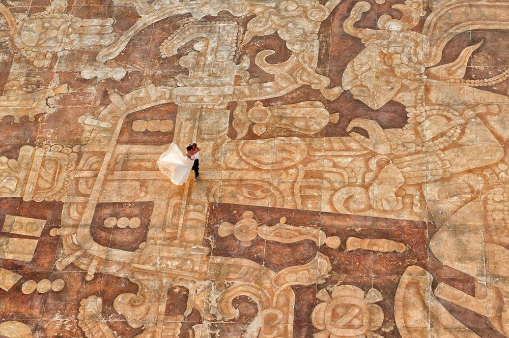 8. 坎昆·墨西哥 by Tara Thelien 海灘,宮殿,烈日,神秘的坎昆和你,第一次披上白紗的美人。