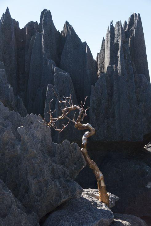 來到岩石山頂....