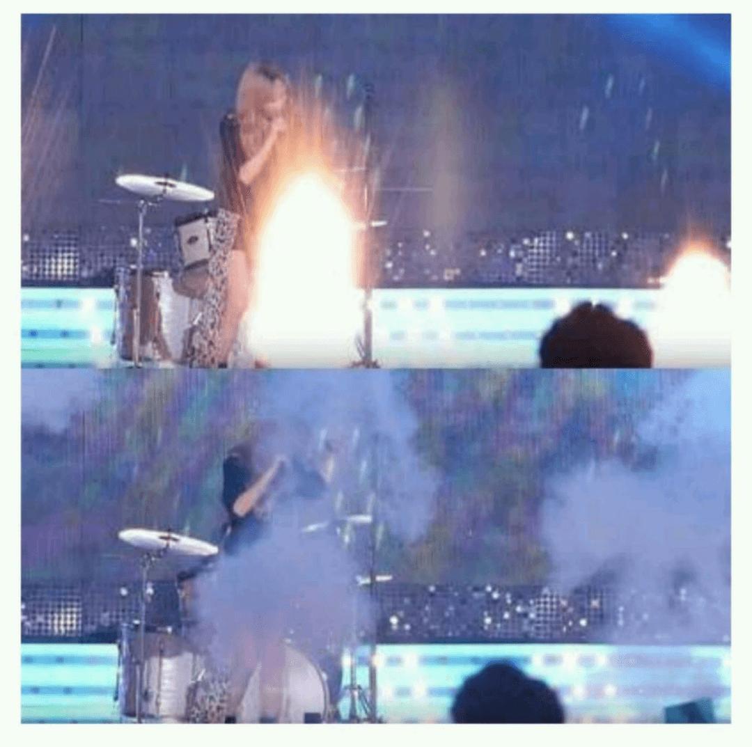 少女時代的太妍因為參加live節目《音樂銀行》演唱會,差點被煙火噴到!網友紛紛要求電視台舉辦這種活動,能否更注意藝人安全?